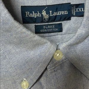 "Ralph Lauren Shirts - 🗣 ""Ralph Lauren 'Blake' Button Down Shirt Sz XXL"""